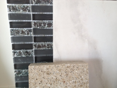 Backsplash, Tile and Quartz Countertop for Kitchen